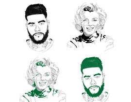 Nro 10 kilpailuun Portraits in vector graphic käyttäjältä picxart