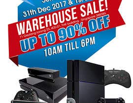 maidang34 tarafından Design a Flyer for Video Games Warehouse Sales. -- 2 için no 60