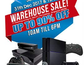 maidang34 tarafından Design a Flyer for Video Games Warehouse Sales. -- 2 için no 65