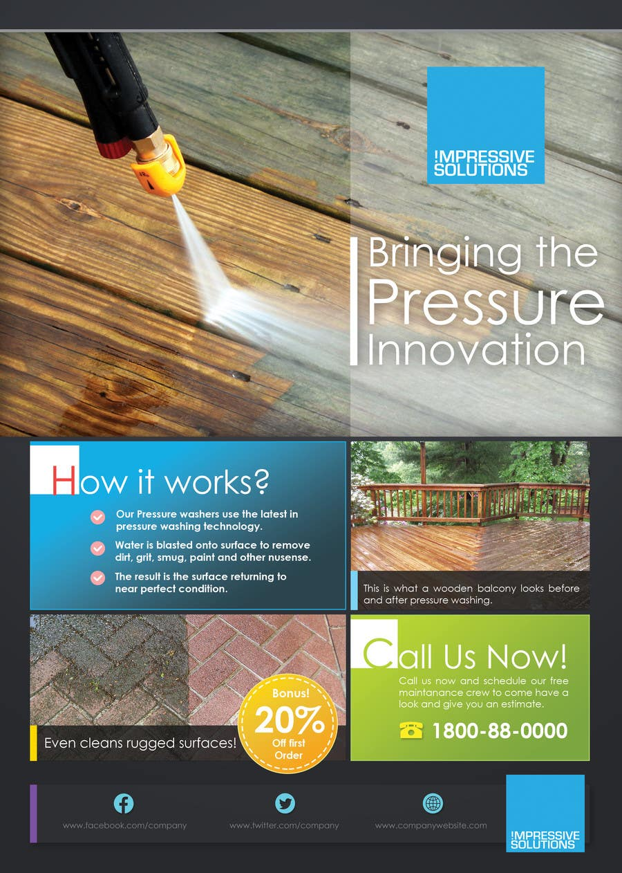 design a flyer for a pressure cleaning company lancer 23 for design a flyer for a pressure cleaning company by sammi67
