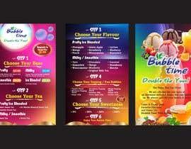 Nro 8 kilpailuun design graphics for a Bubble tea menu along with grand opening promotional graphics käyttäjältä qamarkaami