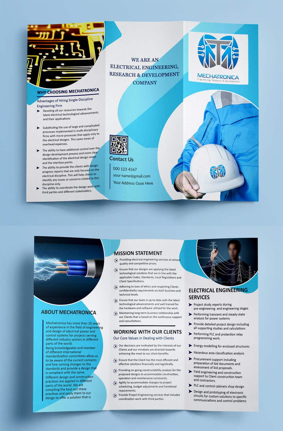 Entry 2 By Sam9996 For Design A Tri Fold Brochure Freelancer The Electronic Circuitry Is Custom Designed And Manufactured Us