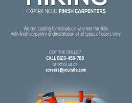 #5 per I have a Moulding business and I'm looking to hire experienced finish carpenters to install all types of doors trim. Please provide me with a advertising poster both in Spanish and English.  I am looking for a poster to advertise the job openings thanks da Louiegi