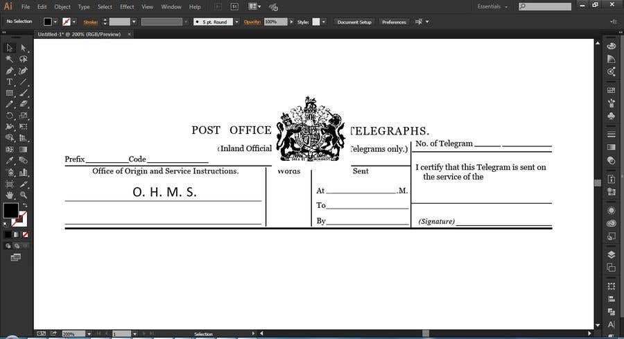 Inscrição nº 1 do Concurso para re-create document without handwritten text.