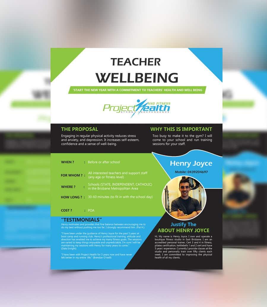 Flyer For Schools Fitness Training Freelancer
