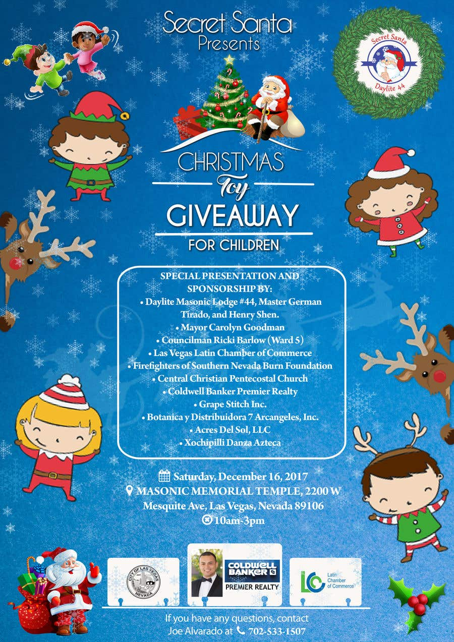 Christmas Toy Giveaway 2021 Entry 18 By Vaishaknair For Design Flyer For Childrens Christmas Toy Giveaway Freelancer