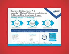 #115 for Design a one page sales brochure for Summit Digital by meenastudio