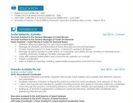 #24 για Create an updated, modernised version of my current RESUME / CV από Salma70