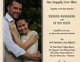 vonnydu tarafından Design an Email Wedding invitation için no 4