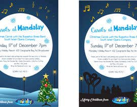 istykristanto tarafından Design 2x Flyers for Christmas Carols at Mandalay için no 19