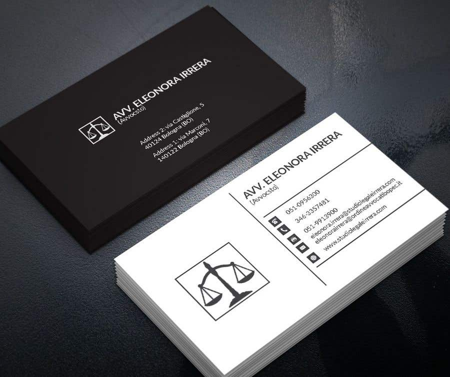 Entry 201 by pranadibroy for design business cards for lawyer business card reheart Image collections