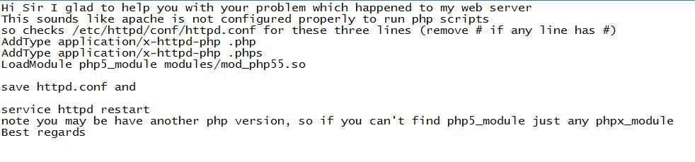 Inscrição nº                                         7                                      do Concurso para                                         Fix PHP running on CentOs with Apache