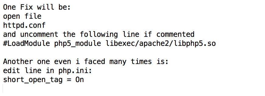 Inscrição nº                                         8                                      do Concurso para                                         Fix PHP running on CentOs with Apache
