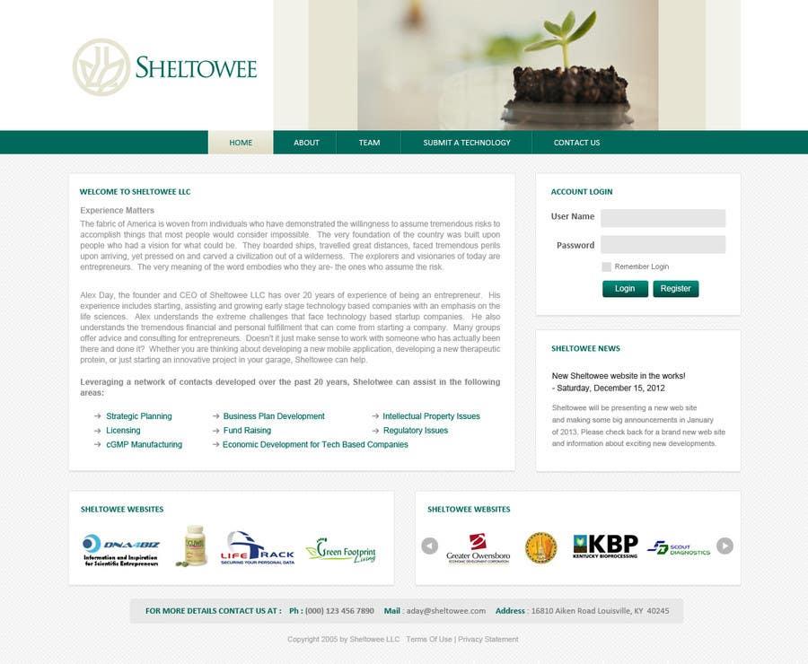 Website Design for Sheltowee LLC a technology investment company için 84 numaralı Yarışma Girdisi