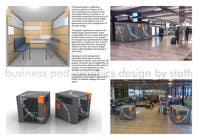 Illustration Design for Business Pod design- self contained business office in business cafes için Graphic Design19 No.lu Yarışma Girdisi