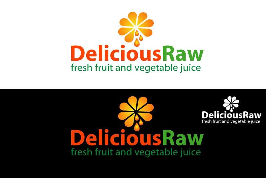 Kilpailutyö #                                        43                                      kilpailussa                                         Logo Design for Delicious Raw