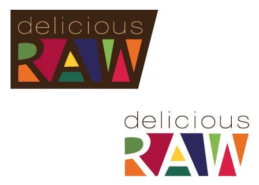 Kilpailutyö #                                        38                                      kilpailussa                                         Logo Design for Delicious Raw