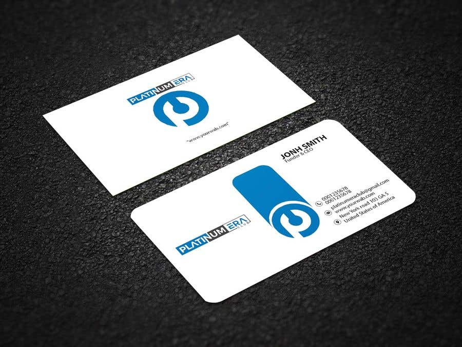 Entry 29 by arfreelancer1212 for design business card for platinum business card colourmoves