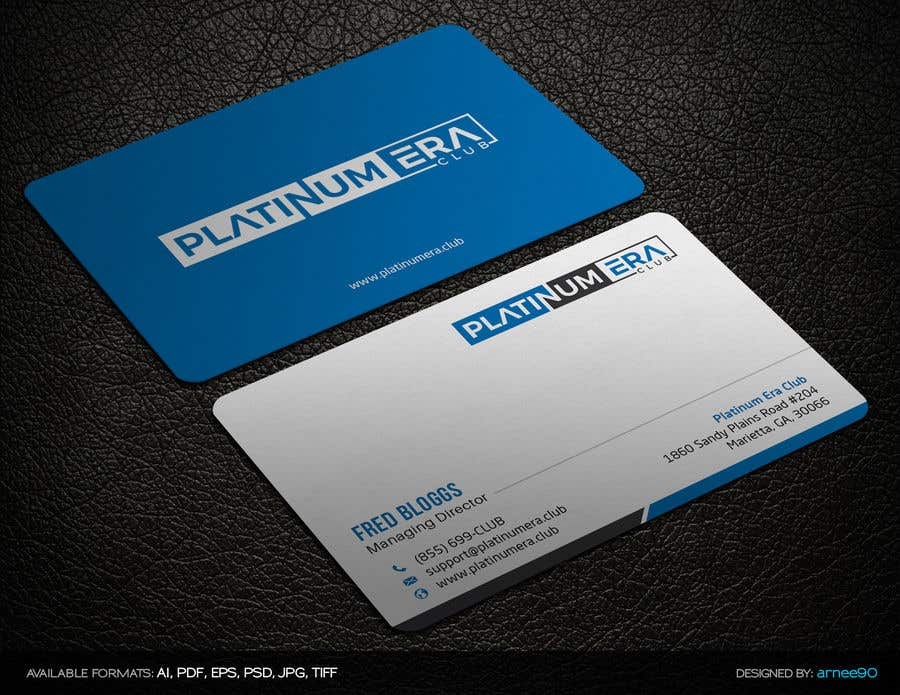 Entry #1 by arnee90 for Design Business Card for Platinum Era Club ...