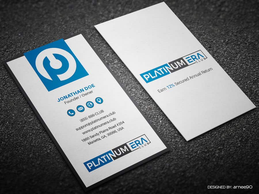Entry #171 by arnee90 for Design Business Card for Platinum Era Club ...