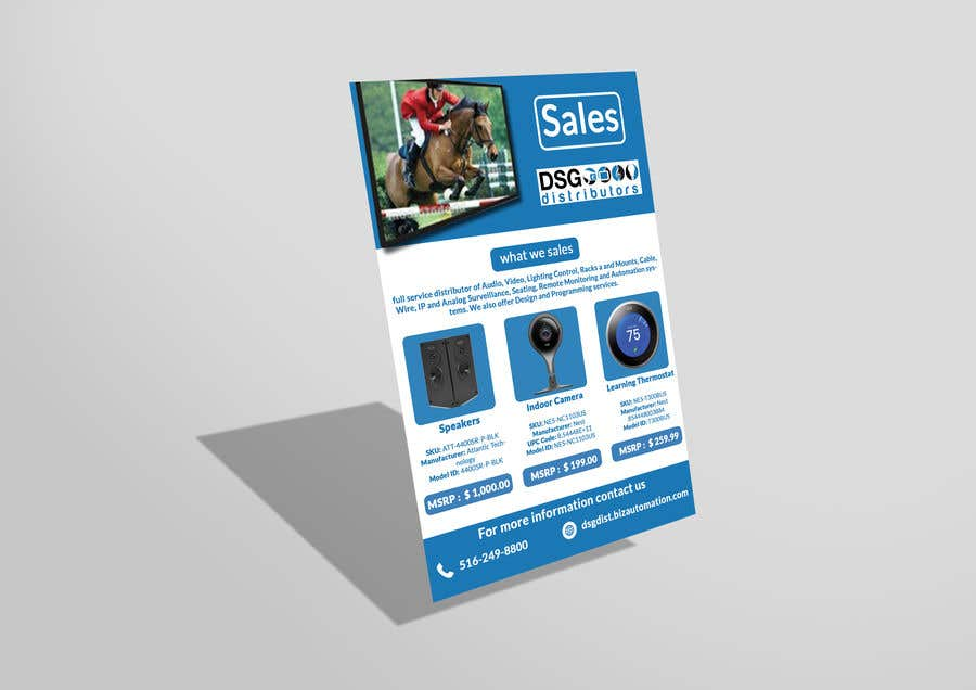 entry 30 by tohaashrak for create montlhy sales flyer freelancer