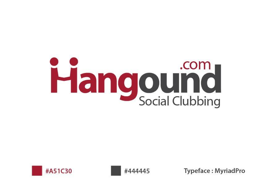Konkurrenceindlæg #99 for Logo design for Hangound (hangound.com), a new web social network based in NY.