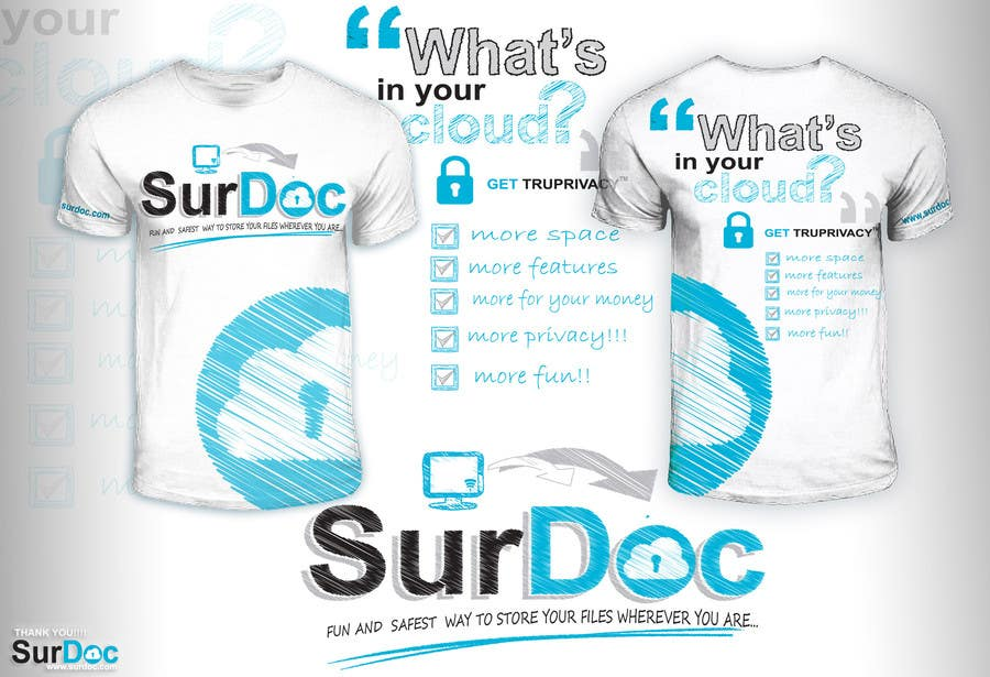 Inscrição nº 87 do Concurso para ***T-SHIRT*** for SurDoc.com - Bold, modern, innovative, fresh!!!