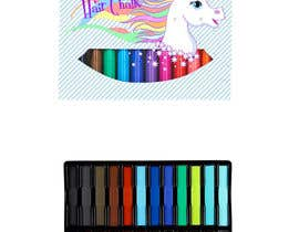 #21 for Rainbow Unicorn Hair Chalk Package Design af tingzhi