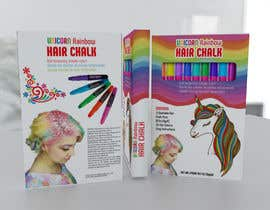 #27 for Rainbow Unicorn Hair Chalk Package Design af rashidabegumng