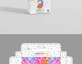 #26 for Rainbow Unicorn Hair Chalk Package Design af ghielzact
