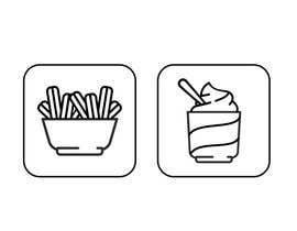 Nro 16 kilpailuun Make line art / monoline icons for churros restaurant käyttäjältä josdanielsilvam