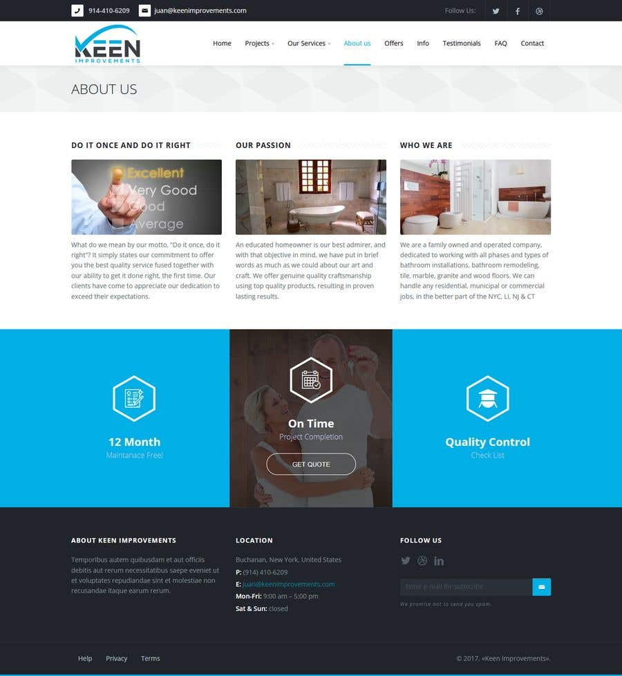 Contest Entry #13 for Create Website for Keen Improvements