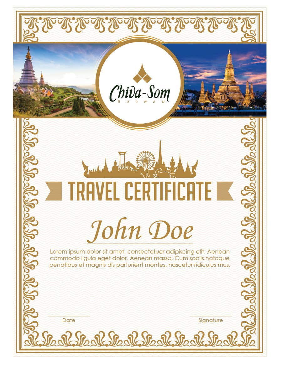 Travel Certificate Yelomdiffusion