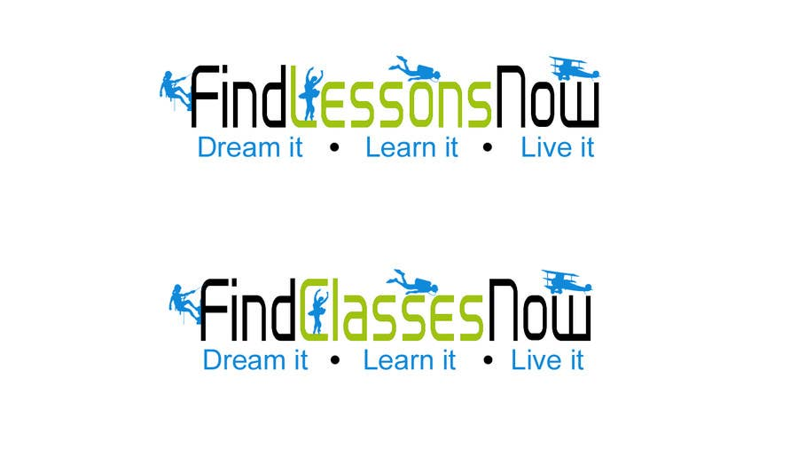 Kilpailutyö #176 kilpailussa Logo Design for FindLessonsNow/ FindClassesNow