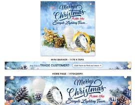 #21 untuk Christmas Day Themed Banner set for our website oleh satishandsurabhi
