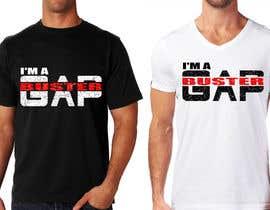 #163 pёr GAP BUSTER Logo T-shirt design nga marijakalina
