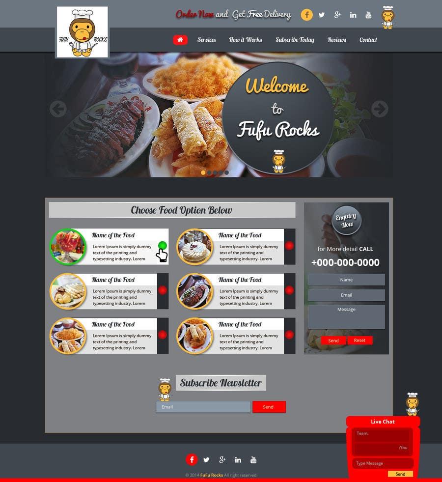 Entry 67 By Samnam83 For Design A Website Template For Restaurant