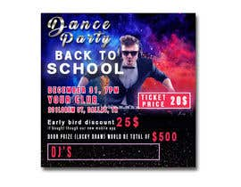 #33 for flyer design for a dance party by tatyana08