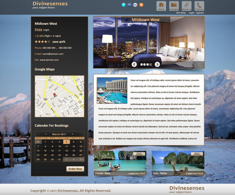 Contest Entry #                                        122                                      for                                         Website Design for Travel Packages