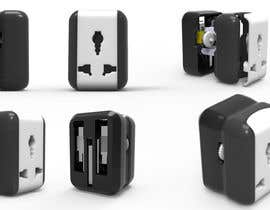 #32 cho Need Creative 3D modelling of Travel Adapter bởi pushpaldey