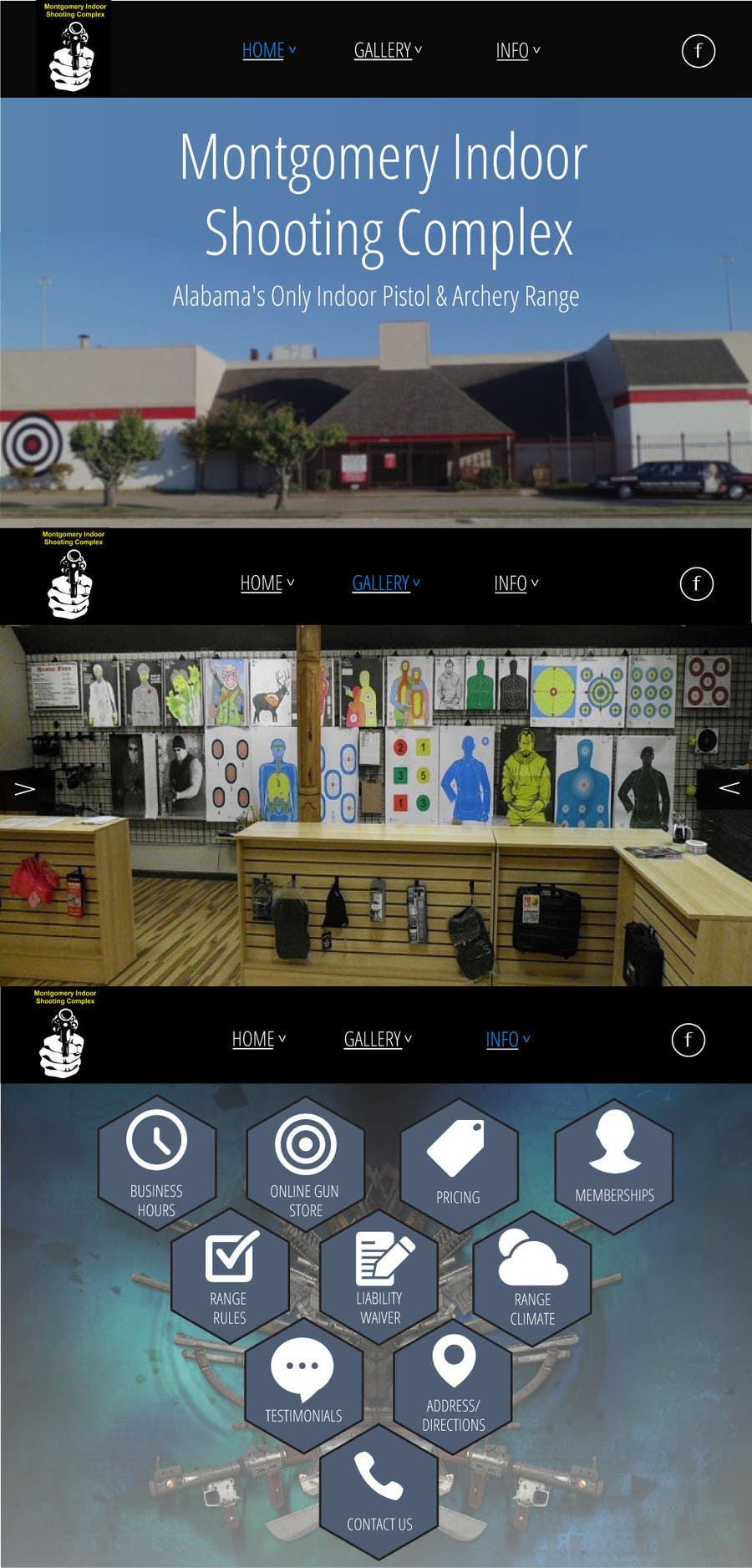 Penyertaan Peraduan #                                        13                                      untuk                                         Design a Website Mockup for Shooting Range