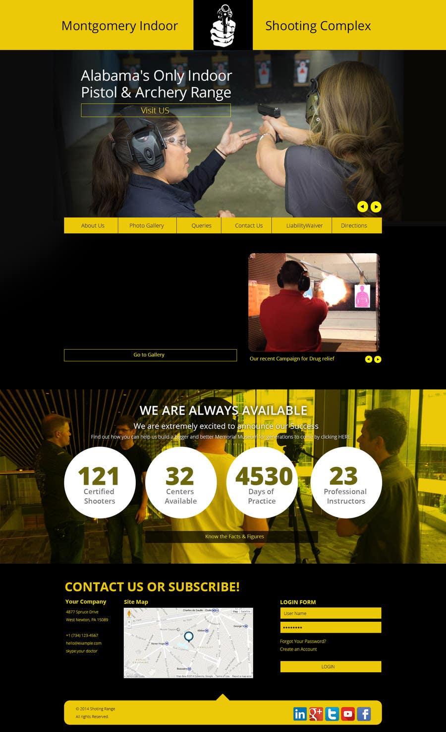 Penyertaan Peraduan #                                        17                                      untuk                                         Design a Website Mockup for Shooting Range