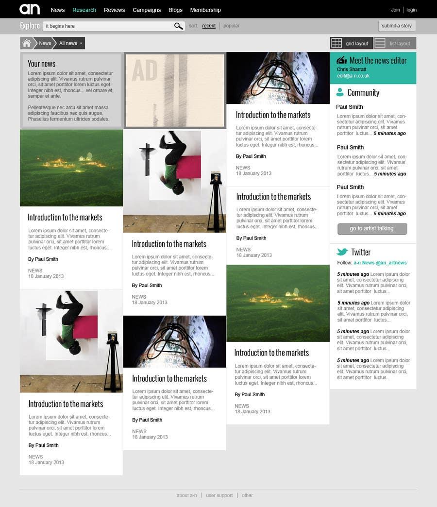 Inscrição nº                                         16                                      do Concurso para                                         Website Design for a Artist Social Network