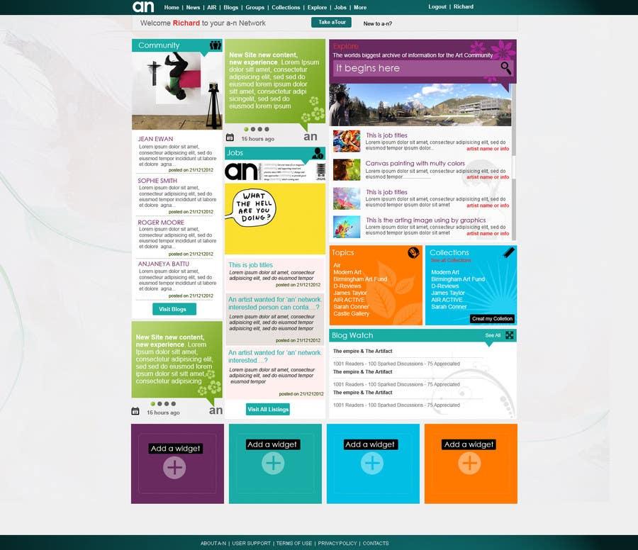 Inscrição nº                                         5                                      do Concurso para                                         Website Design for a Artist Social Network