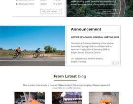 Orko30 tarafından Design a Cycling Club Website Mockup için no 9