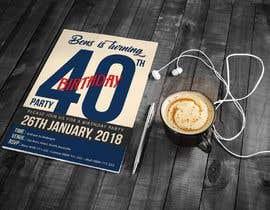 #56 for Design 40th Birthday Invitation by satishchand75