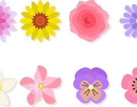 #17 untuk I need some graphics designed - individual flower petals with square base on bottom for svg / flower project oleh juancorrea2902
