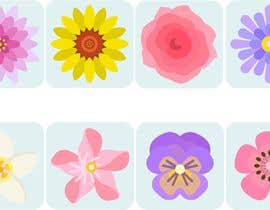 #19 untuk I need some graphics designed - individual flower petals with square base on bottom for svg / flower project oleh juancorrea2902