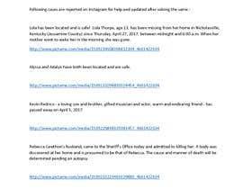 Nro 1 kilpailuun Compile a list 5 Cold cases that were solved by instageam käyttäjältä JAIDEEP2959