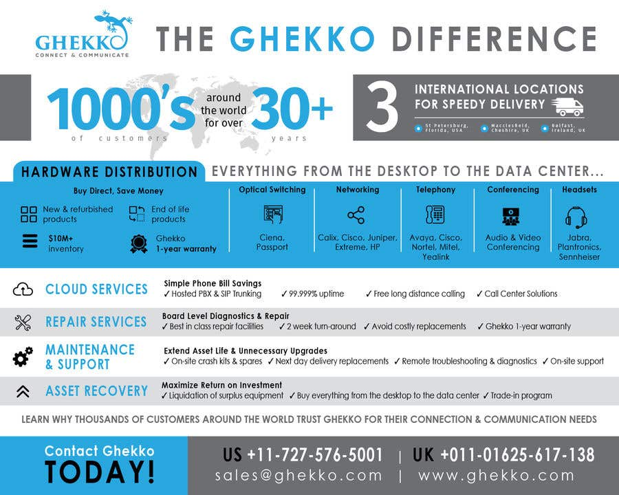 Inscrição nº 61 do Concurso para Design a one page sales brochure for Ghekko - a technology company